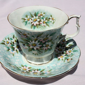Royal Albert Festival Series Saville Pattern Teacup, Fine Bone China