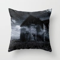 house on the edge Throw Pillow by  Alexia Miles Photography