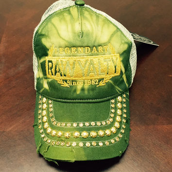 Rawyalty Legendary Crystal Stone Hat Tie Dye Army