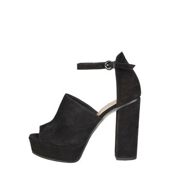 Pierre Cardin MICHELINE Black Wide Heel Sandal