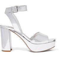 Miu Miu - Mirrored-leather platform sandals