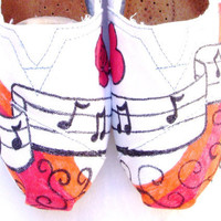 The Britney  Music Lover Custom TOMS by FruitfulFeet on Etsy