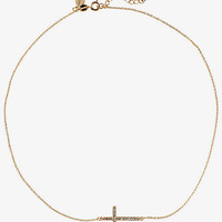 PAVE CROSS NECKLACE from EXPRESS