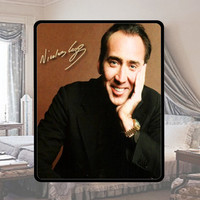 Hot!! Nicholas Cage Polar Fleece Personalized Fleece Throw Blanket Soft great Birthday gift