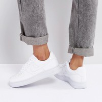 Nike Air Force 1 '07 Trainers In White Patent at asos.com