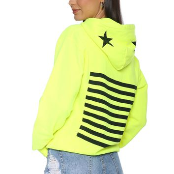 JET x Mixology Stripes and Stars Neon Sweatshirt