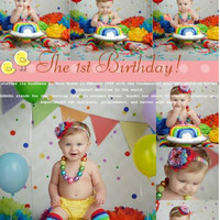 150cm*200cm(5*6.5ft) photography Small flag colored candy birthday newborn photography background CM S-112