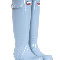Original Tall Duck Egg Blue Hunter Wellies at Coggles.com online store