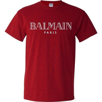 Balmain Paris Antique Cherry Red T-Shirt