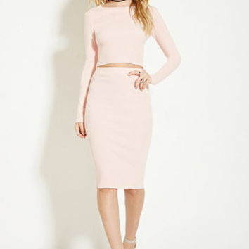 Rehab Ribbed Pencil Skirt