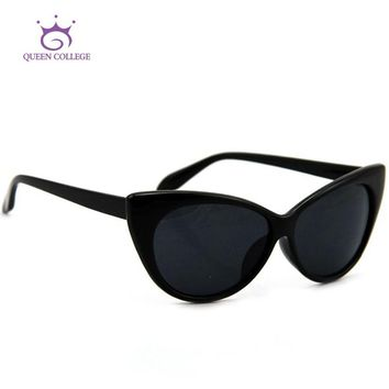 QUEEN COLLEGE Hot Tip Pointed Vintage cat eye sunglasses Women Inspired Sexy Mod Chic Rtro Brand sun glasses UV400 QC0170