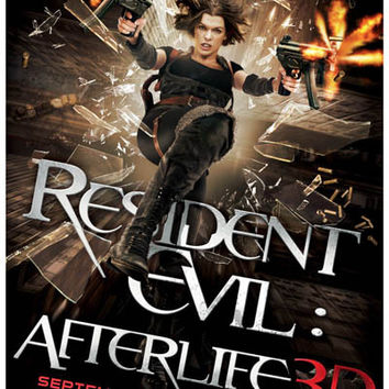 Resident Evil Afterlife 3D Milla Jovovich Movie Poster 11x17