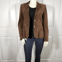 Chocolate Suede Tannery West Jacket