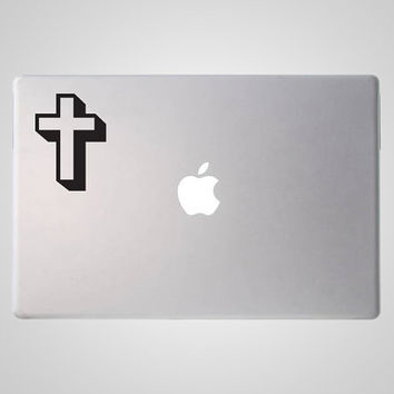 Cross Decal - Cross Sticker - Christian Decal - Christian Sticker - Vinyl MacBook Decal
