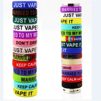 Anti-slip Ring Silicon Finger Ring Colorful Vape Band Covering Rubber Ring