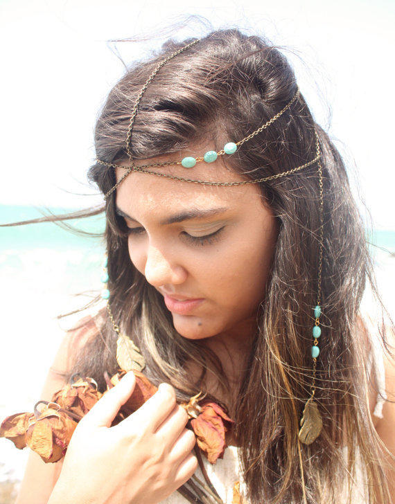 Chain Headband Headpiece Bohemian Hipster From
