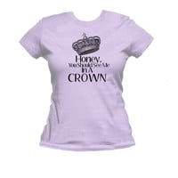 Honey, You Should See Me in a Crown, American Apparel Ladies T Shirt, Sherlock Moriarity Tee