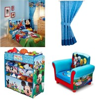 Toddler Bedding Collection Set, Mickey Mouse Room in a Box Toy Organizer,BookShe