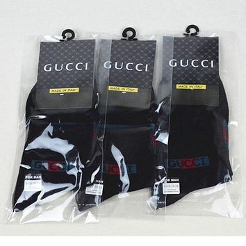 GUCCI Woman Men Cotton Socks Stockings