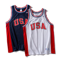 Champion New Fashion Net Basketball Breathable Vest Sleeveless Top T-shirt Two Color
