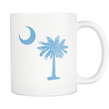 South Carolina Palmetto Moon LIGHT BLUE