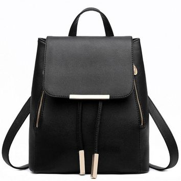 Backpacks for women 2017 Leather Bags Travel Big Simple Ladies Bags Female Backpack Schoolbags Shoulder Bag