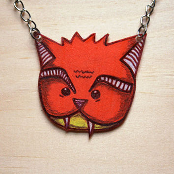 Vampire Cat // necklace