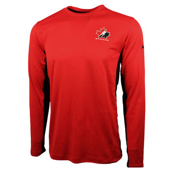 Team Canada IIHF Speed Dri-FIT Long Sleeve T-Shirt (Red)