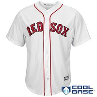 Boston Red Sox MLB Men's Big and Tall Cool Base Team Home Jersey White