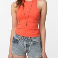 UrbanOutfitters.com > Sparkle & Fade Triangle Cutout Cropped Tank
