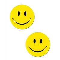 Yellow Smiley Face Pasties