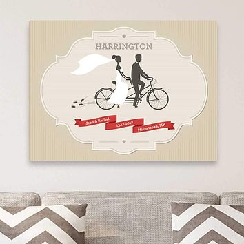 Personalized Wedding Day Canvas