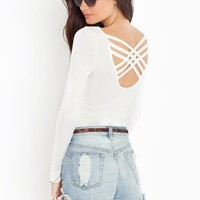 Strapped Back Top - Ivory in Clothes Tops at Nasty Gal