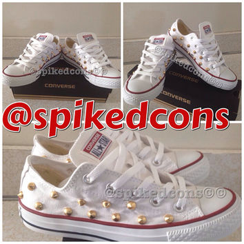 Women Men spike studded converse (low top)