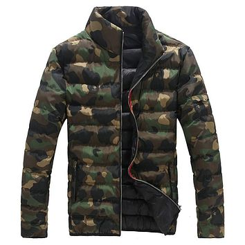 Free Shipping Winter Men's Camouflage Down Jacket Military Style Warm Brand Windproof Waterproof Coat For Men Plus Size 5XL