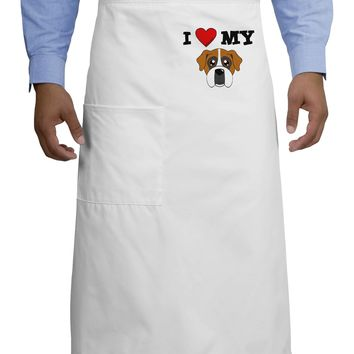 I Heart My - Cute Boxer Dog Adult Bistro Apron by TooLoud