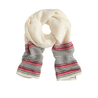 J.Crew Womens Beaded Embroidered Scarf