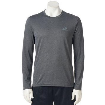 NWT - Men's adidas Climalite Long Sleeve Performance Shirt - GRAY Size XL