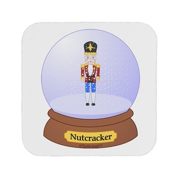 Nutcracker Snow Globe - Red Gold Black Coaster by TooLoud