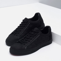 SNEAKERS WITH QUILTED DETAIL New