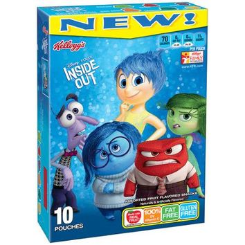 Kellogg's Disney/Pixar Inside Out Fruit Flavored Snacks, 10 count, 8 oz - Walmart.com