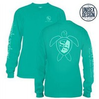 *Closeout* Simply Southern Long Sleeve Turtle Tee SEAGLASS LOGO