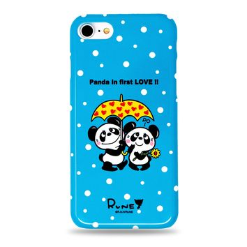 Cute Panda in First Love Snap iPhone Case Blue by Rune