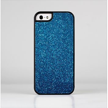 The Blue Sparkly Glitter Ultra Metallic Skin-Sert for the Apple iPhone 5-5s Skin-Sert Case