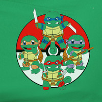 TMNT Teenage Mutant Ninja Turtles Pokemon parody tee t-Shirt 80's