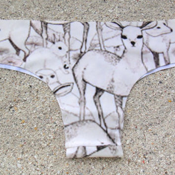 Forest Animals Brazilian Cut Low-Rise Panties