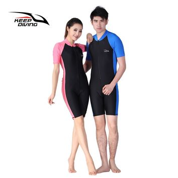 KEEP DIVING Lycra Wetsuit Stinger Wet Suits Diving Skin For Men Or Women One-piece Short Sleeve Jump Suit Swimsuit Swimwear