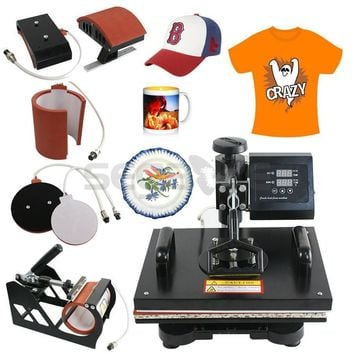 5 In 1 Digital Heat Press Machine Sublimation For T-Shirt