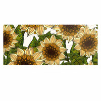 """Art Love Passion """"Sunflower Field"""" Beige Yellow Luxe Rectangle Panel"""