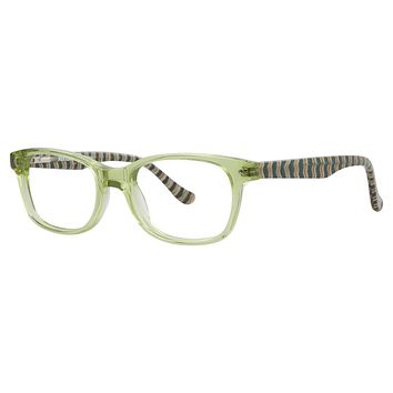 Kensie - Stripes 45mm Lime Eyeglasses / Demo Lenses